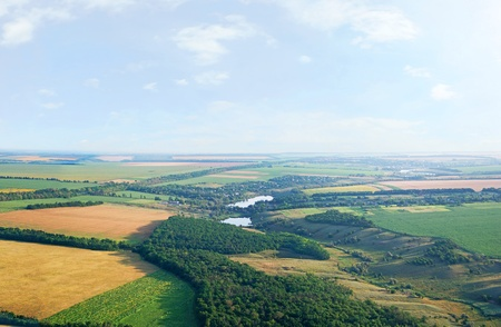 Landschap met het oog van een vogel uitzicht, panorama