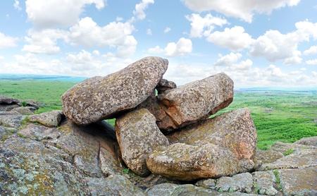 granite park: Mountain landscape (Stone Tombs), boulders