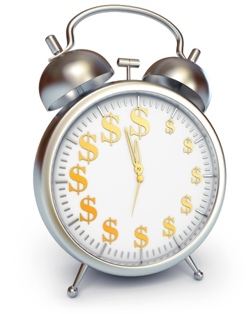 greenback: Time is money, 3d render Stock Photo