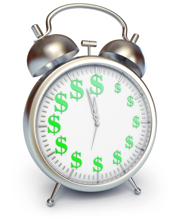 contribution: Time is money, 3d render Stock Photo