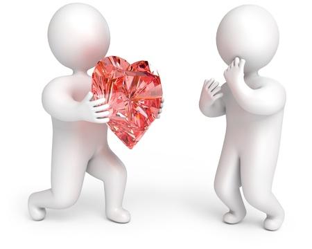 declaracion de amor: el coraz�n como un regalo, una declaraci�n de amor, 3d