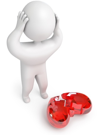 a broken heart, 3d render Stock Photo - 13923747