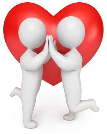 Loving couple holding hands, 3d render Stock Photo - 13923744