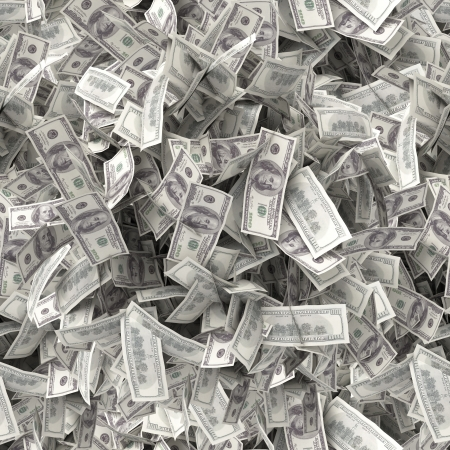 Seamless texture  One hundred dollars Stock Photo - 13923853