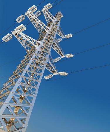 megawatts: Power Transmission Line  3d render