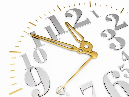 twelve o clock, on a white background, 3d render Stock Photo - 13923769