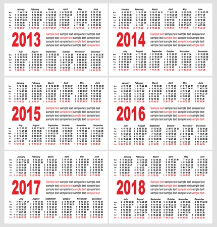 Calendar grid pocket vector, set Vector