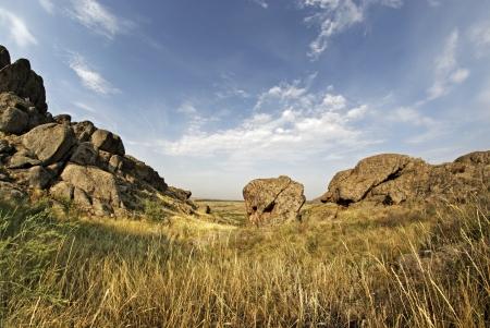 granite park: National Park, Stone Tombs, Donetsk, Ukraine, Geological formations