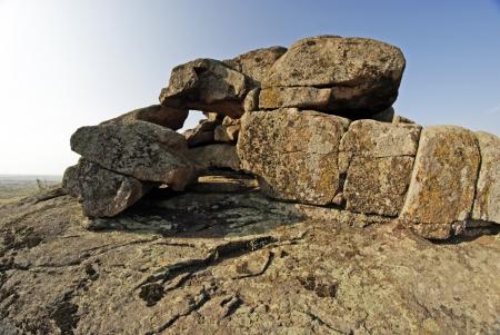boulder: Rock erosion  Geological formations Stock Photo