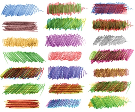 Pencil drawing, Strokes of colored pencils Stock Photo - 16765491