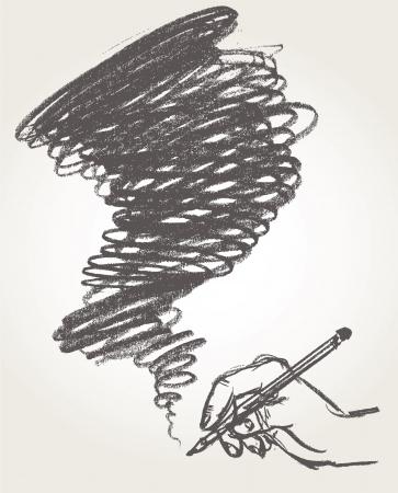 Pencil drawing, illustration, Hand-drawn Stock Vector - 16778490