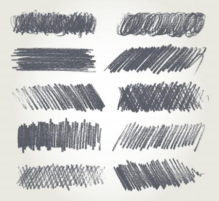 lapices: Dibujo a lápiz, ilustración vectorial, dibujado a mano