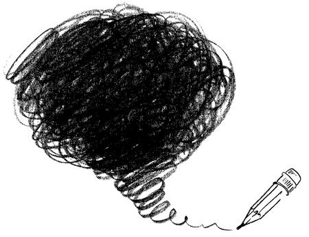 garabatos: Dibujo a lápiz, ilustración Vectores