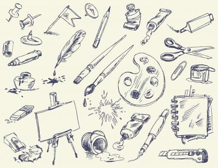 Artículos de papelería, productos para artistas, materiales de arte