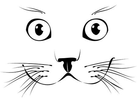 silhouette chat: Chat souriant, illustration vectorielle
