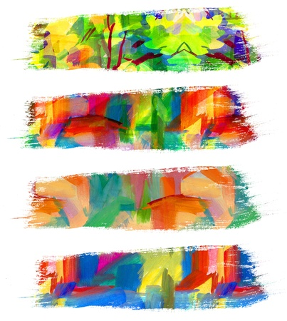 Abstract oil painting, Brush stroke, Smeared stain Stock Photo - 16864159