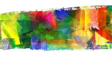 brush stroke: Abstract guasch painting, Brush stroke Stock Photo