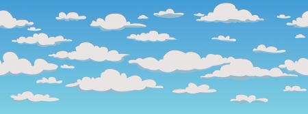 cloud clipart: Clouds, seamless pattern background, vector illustration