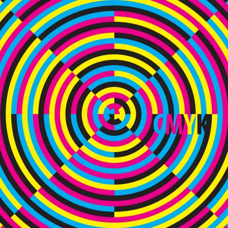 CMYK  cyan, magenta, yellow, black , moire effect Stock Vector - 16864139