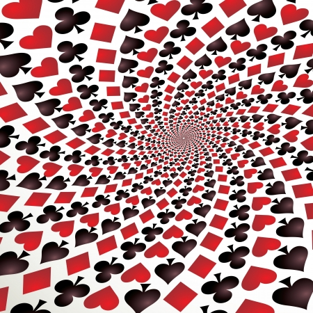 Card suit, Hearts, diamonds, spades and clubs, Vector Stock Vector - 16907140