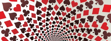 playing cards: Hearts, diamonds, spades and clubs, Playing cards, Op art