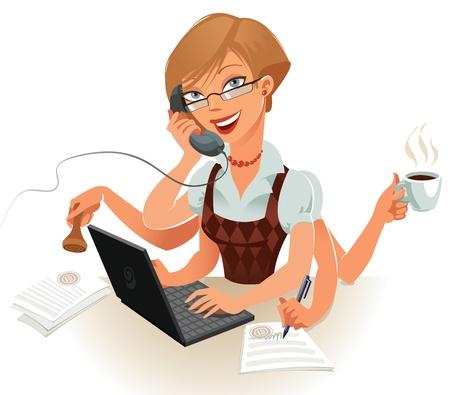 secretaria: Secretario f�cilmente puede manejar varias cosas al mismo tiempo