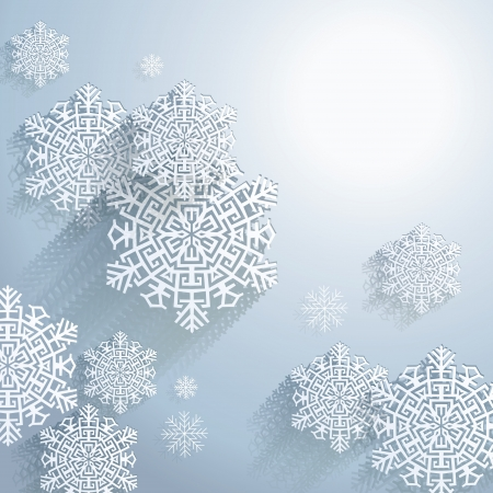 3D Abstract Snowflakes, Christmas background Stock Vector - 16907830