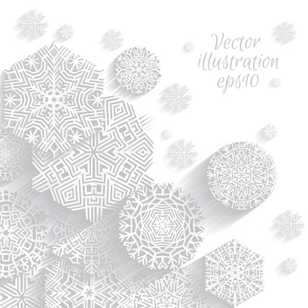 Snowflakes, Christmas background, Vector illustration Stock Vector - 16907665