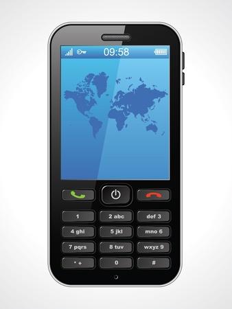 mobile phone: Mobile phone, vector illustration Illustration