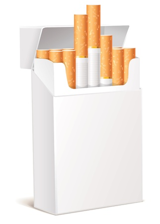 cigarette pack: Cigarette pack 3d, Isolated on white background, Vector