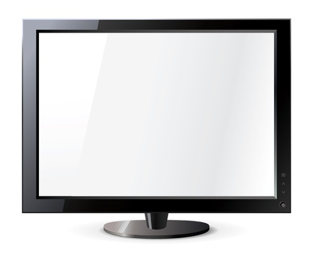 Computer display isolated on white, Frontal view Stock Vector - 16904774