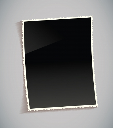 Empty vintage photo frame on table, Vector illustration eps 10 Vector