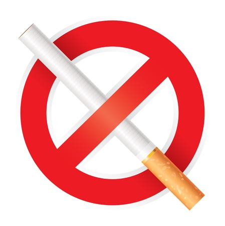 butt: No smoking, Isolated on white background, vector Illustration