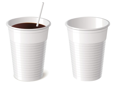 disposable: Disposable cup, isolated on white background
