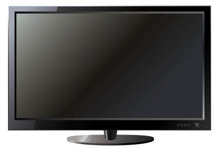 flat screen tv: TV flat screen lcd, vector illustration Illustration