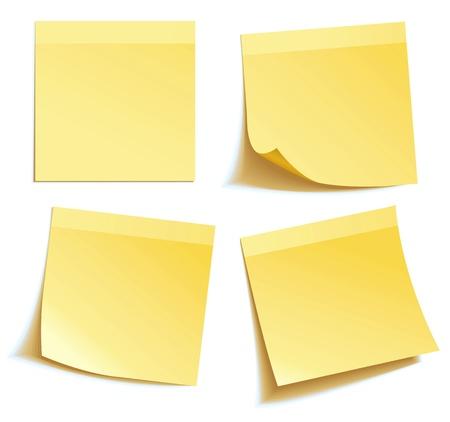 Yellow note kij na białym tle