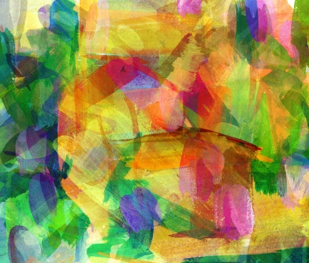 palitra: Abstract guasch painting, Smeared stain, Freehand drawing Stock Photo