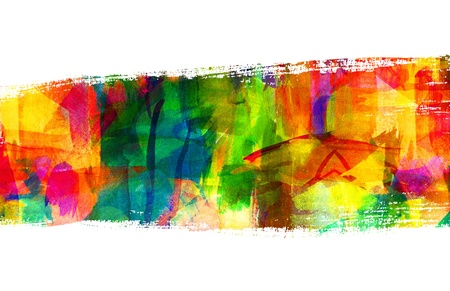 Abstract guasch painting, Brush stroke, Smeared stain Stock Photo - 16898766