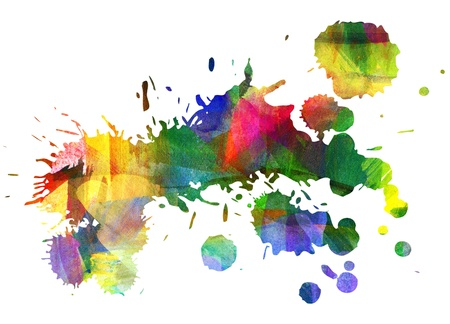 Abstract oil painting, Blot, Smeared stain, Blob Stock Photo - 16906773