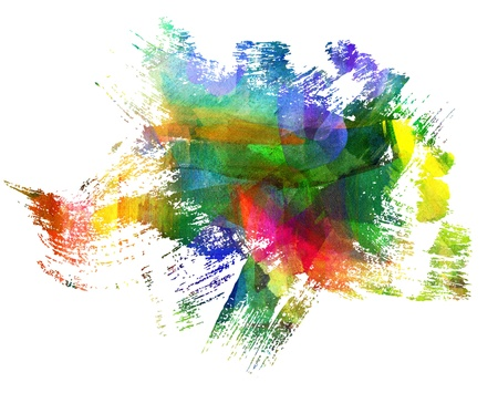 Abstract guasch painting, Blot, Blurred stain, Blob Stock Photo - 16906775