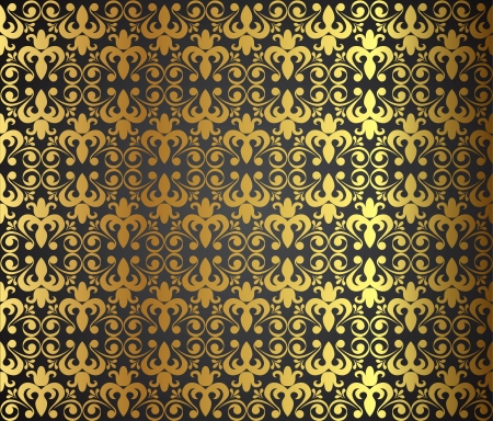 Seamless Damask wallpaper, vector illustration Vector