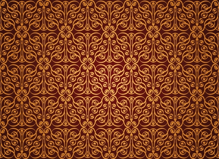 grunge wallpaper: Seamless Damask wallpaper, vector illustration