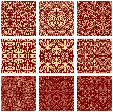 Excellent seamless floral background, geometrical patterns Stock Vector - 17041205