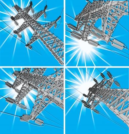 powerlines: Power Transmission Line illustration