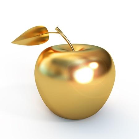 Golden apple isolated on white background Stock Photo - 17041289