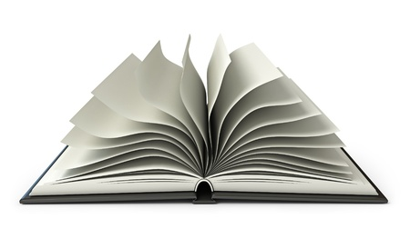 Big open book, White background photo