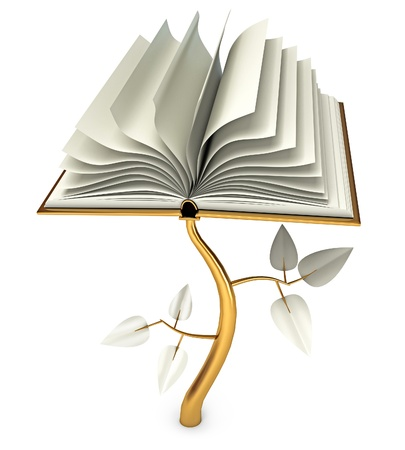 bible study: Development of Education, Open book, Conceptual illustration
