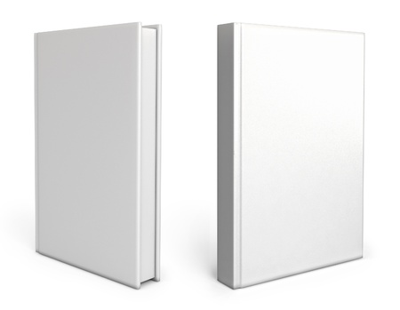 Front view of Blank book cover white photo