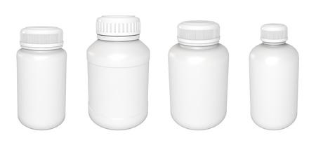 Blank medicine bottle, Isolated on white Stock Photo - 17041278