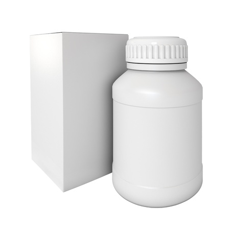 Blank medicine bottle, Package of drugs with Stock Photo - 17041282